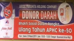 Kegiatan Donor Darah dalam Perayaan HUT PT Arion Paramit
